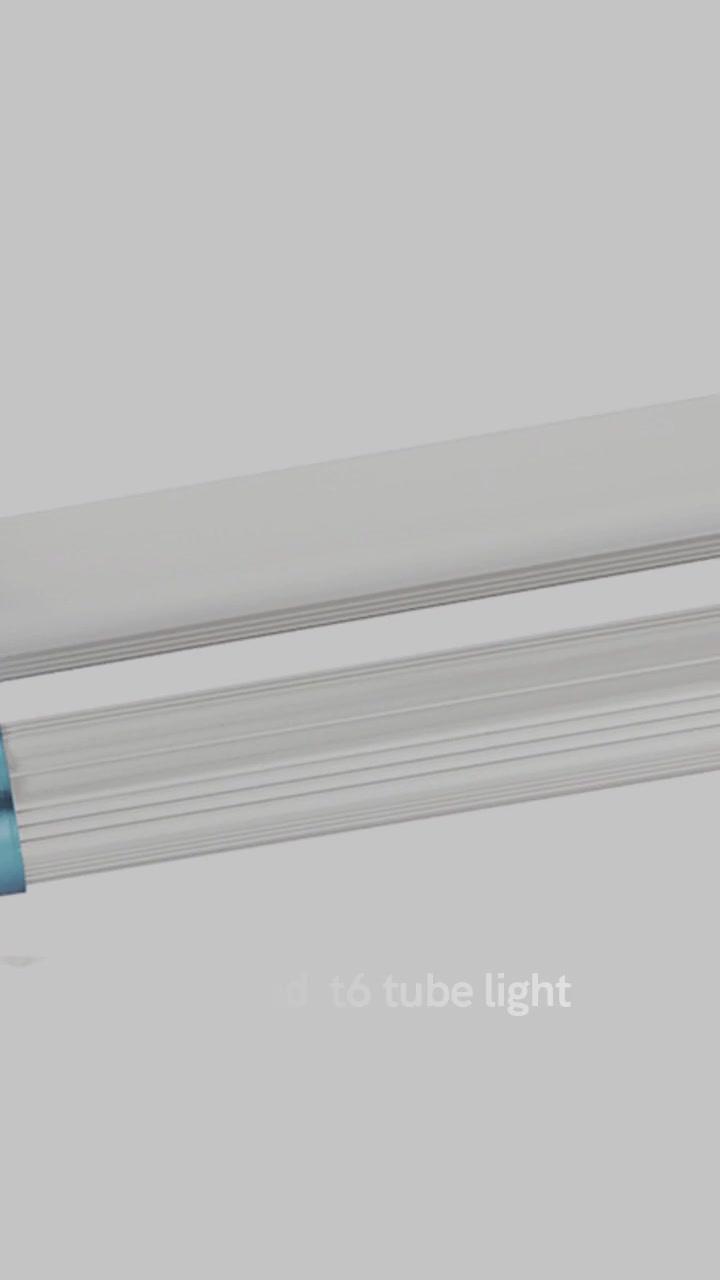 Luci di tubu LED CHZ-LT06-T6 LED tubu di luce T6 unica o doppia cunnette tipu ordinariu AL + PC materiale