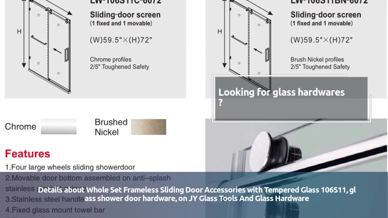 Glass Hardwares Manufacturer,Whole Set Frameless Sliding Door Accessories with Tempered Glass 106S11 | Jy