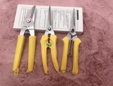 3 Tesouras de poda amarela para jardim do fabricante de tesouras