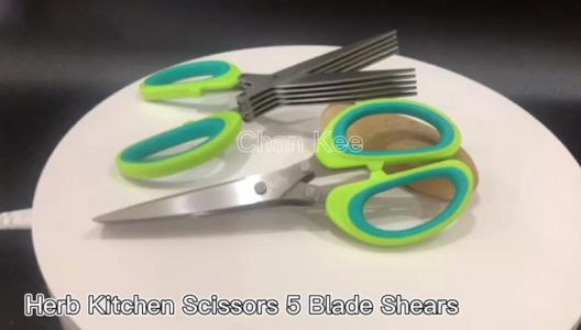 Toptan CHAN Kee Mutfak Makas 5 Bıçak Otu Kapak Mutfak Makası Üretici ile Makas Üretici