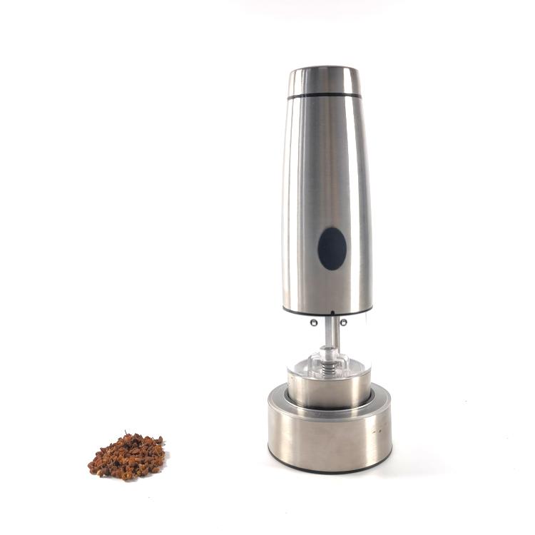 Oplaadbare roestvrijstalen USB-opladen Elektrische pepermolenzout en pepermolen voor keuken 9549