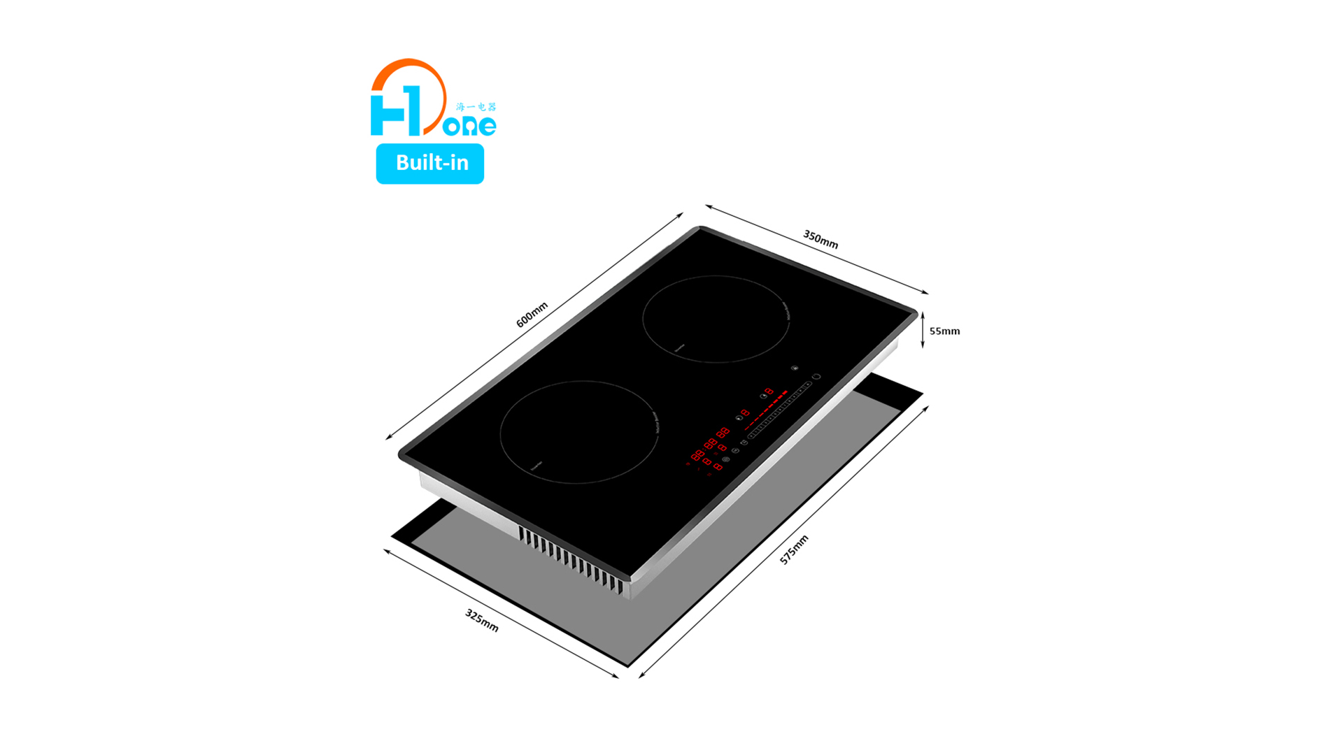 Chinese Original Design Manufacturer Shenzhen H-one Half Bridge Induction Technology Built-in Induction Cooker 8120-255