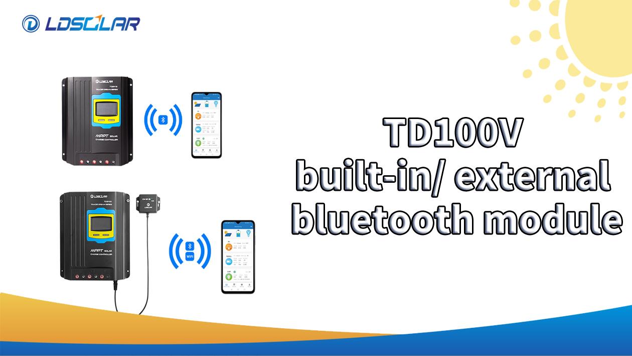LDSOLAR TD100V MPPT Sluneční regulátor vestavěný / externí modul Bluetooth