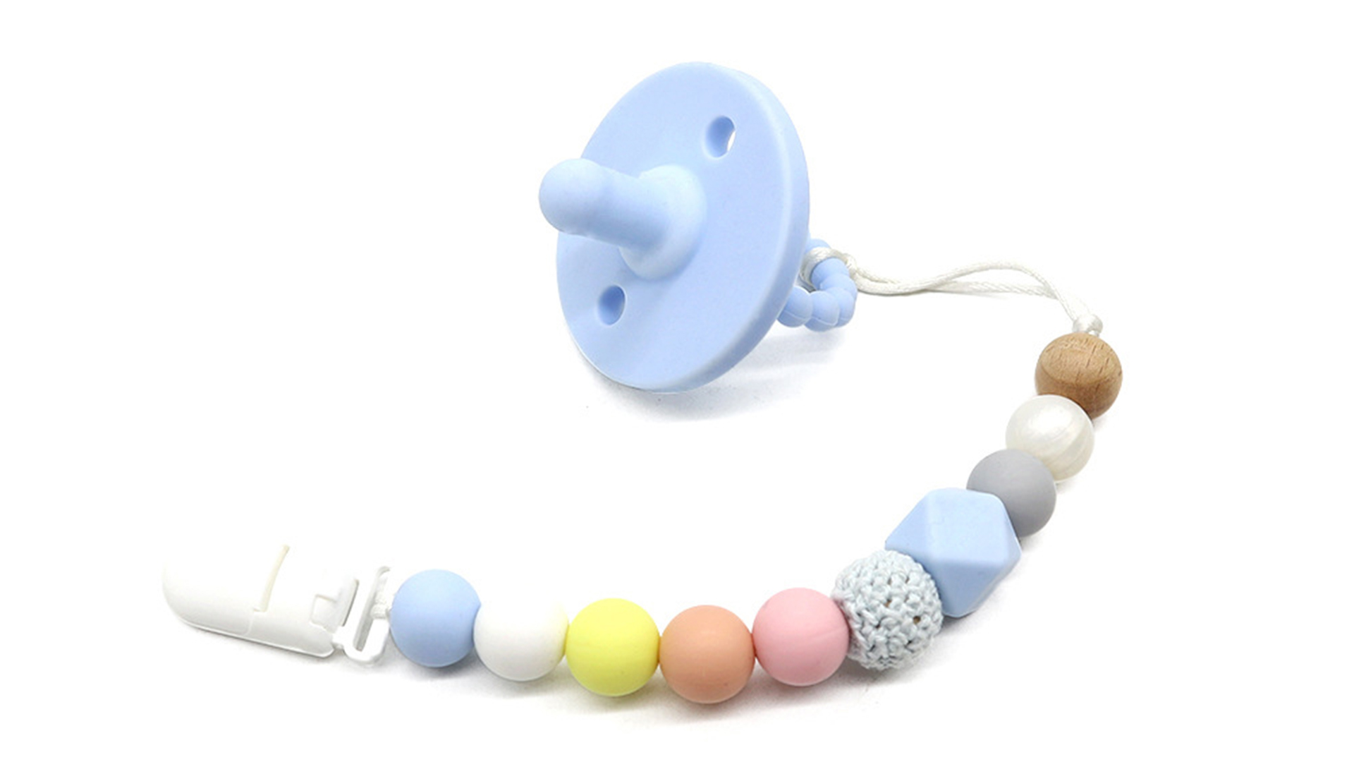 Silicone New-Neu-né Pacificateurs Dormir le mamelon dormant avec des perles de teether Poignée pliable DH-Silicone