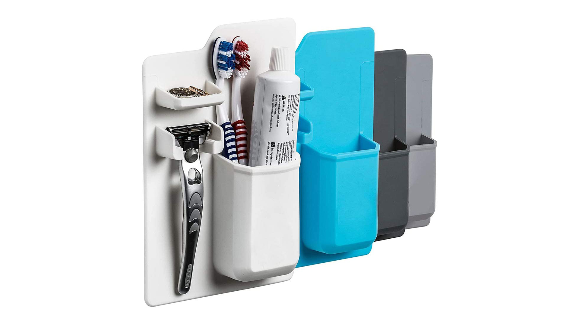Silicone Salle de bains Stockage Organisateur Porte-brosse à dents Maquillage Cuisine Montée murale Non-Punch Sans aspiration DH-Silicone
