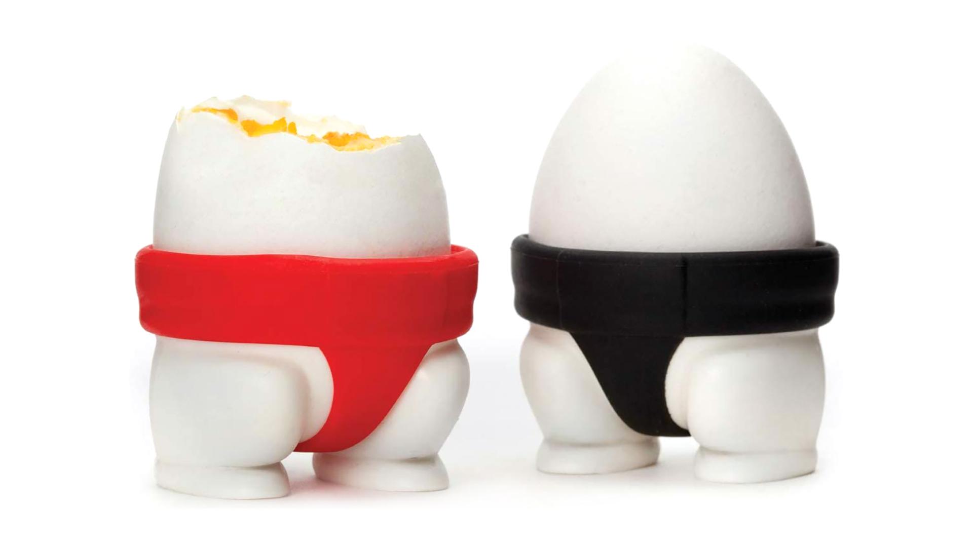 Ustensiles de cuisine drôles Porte-oeufs de silicone Sumo Pantalons Design Titulaires de tasse d'œufs DH-Silicone