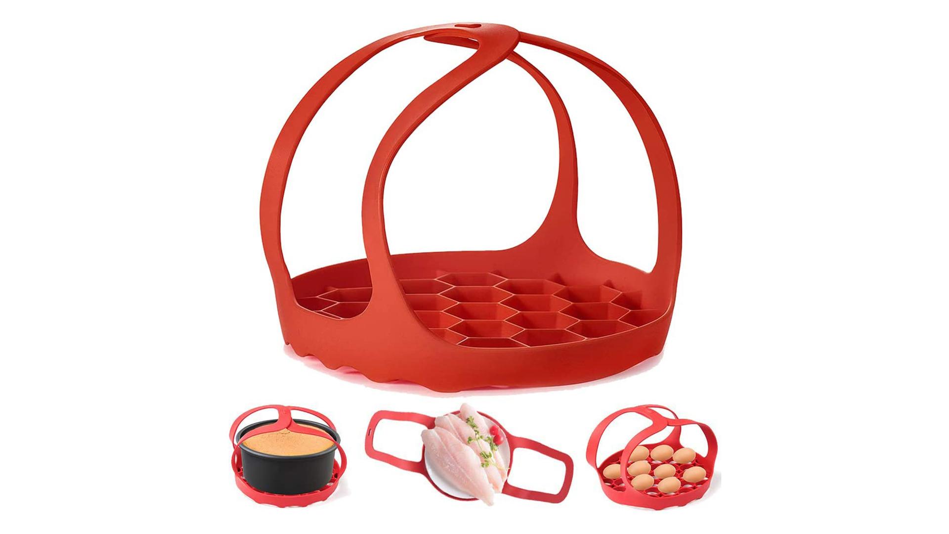 Trivret d'oeufs en silicone pour cuisson de cuisson cuisson de cuisson de cuisson de cuisson de cuisson, porte-oeufs et rack de torréfaction DH Silicone