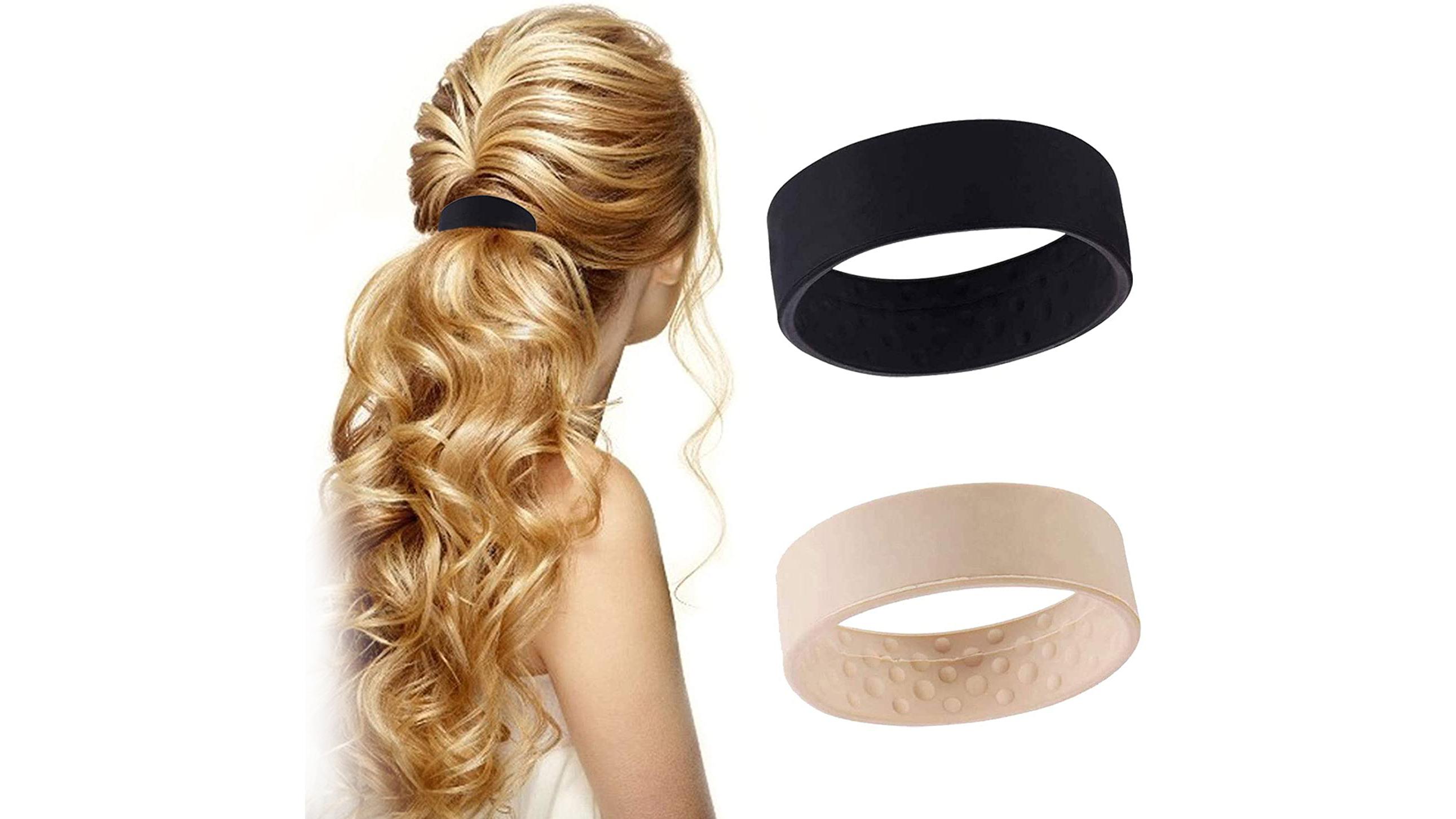 Multifunktions Pferdeschwanz Krawatte Zubehör Silikon Elastische Haarbänder für Frauen Hair Band Seile Ring DH-Silikon