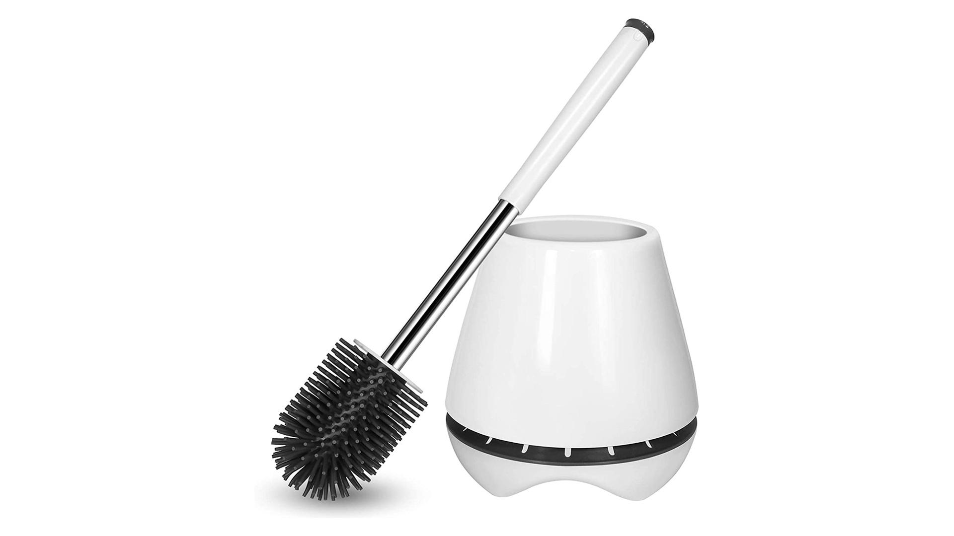 掘削の急速乾燥DHシリコーンを掘削することなく取り付けられたシリコーンのトイレのブラシとシリコーンの剛毛の便器の洗剤のホルダーの壁