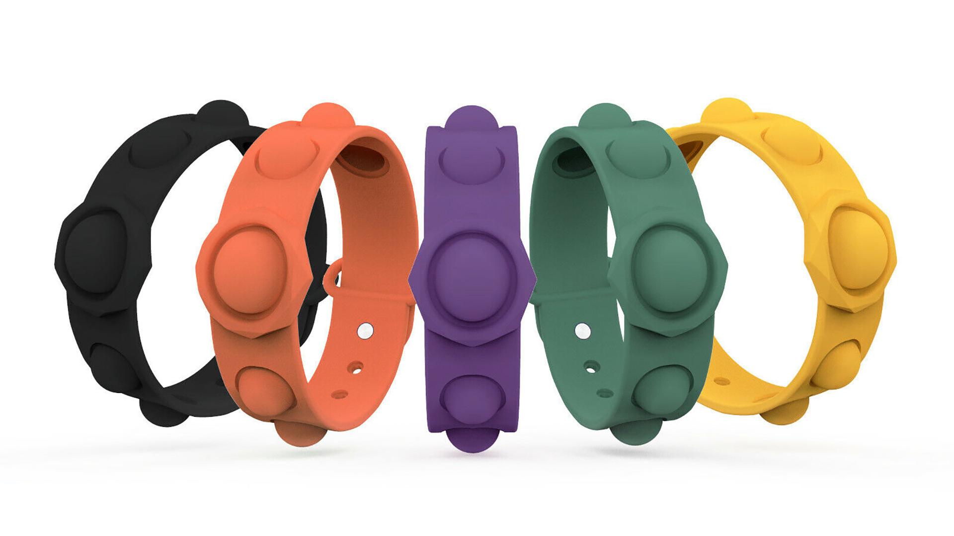 Sensory Toy Push POP Bubble Silicone Bracelet Soulagement Soulagement Silicone Bracelet DH-Silicone