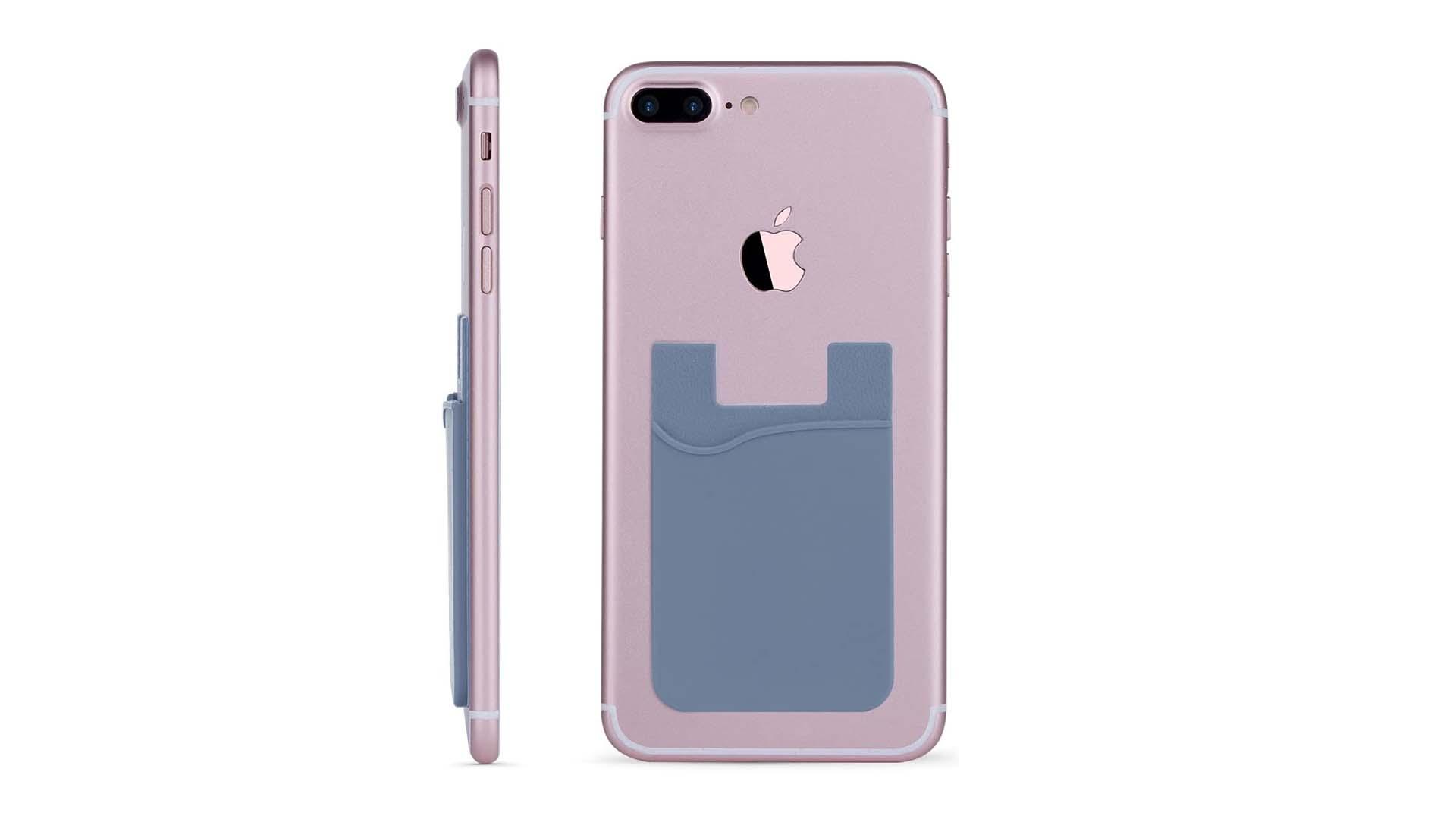 Pochette en silicone avec titulaire de carte de crédit en silicone adhésif 3M à l'arrière de tous les smartphones DH-Silicone