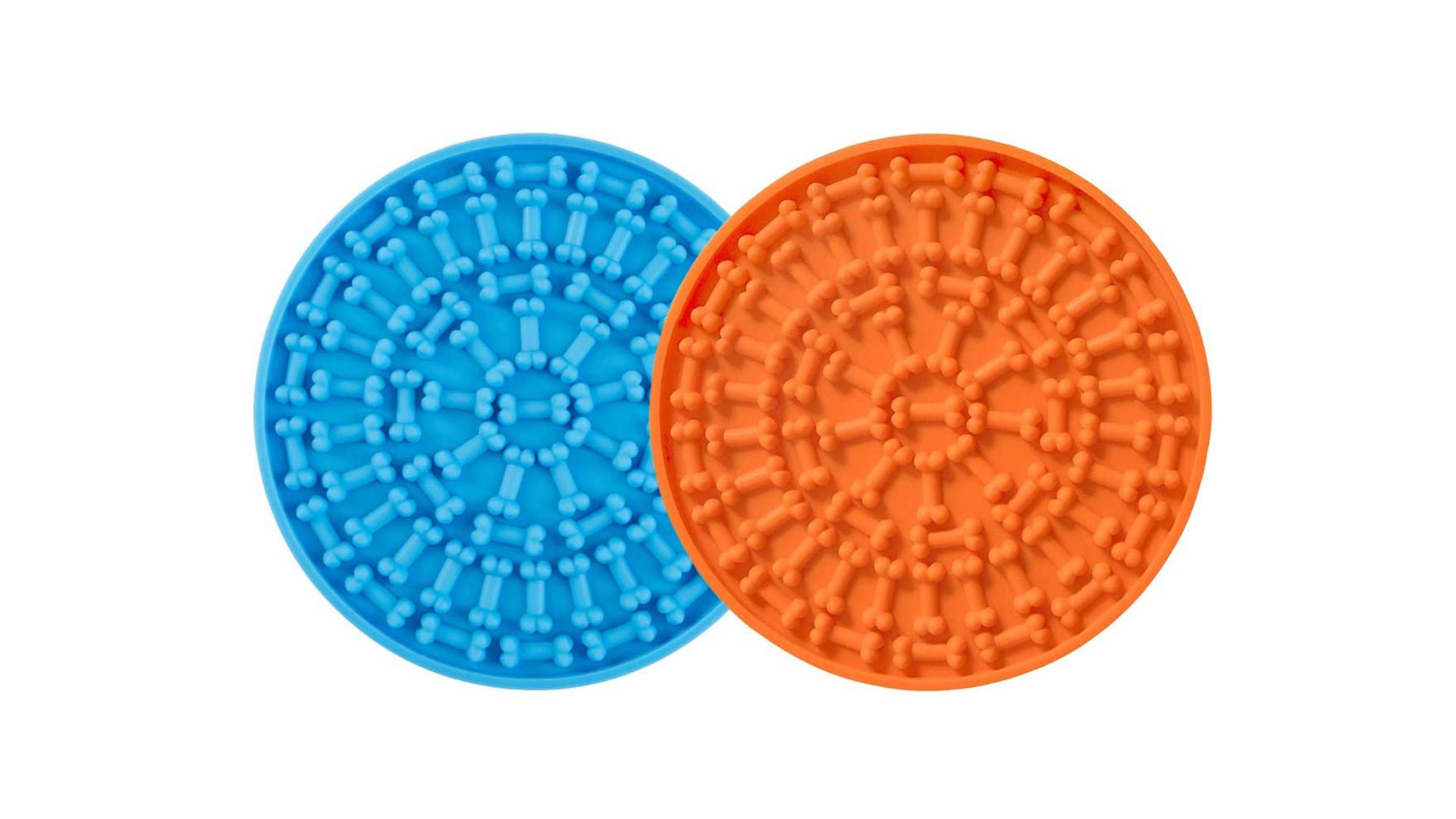 Tapis d'alimentation lent en silicone lick mat avec aspiration au mur pour chien dh-silicone