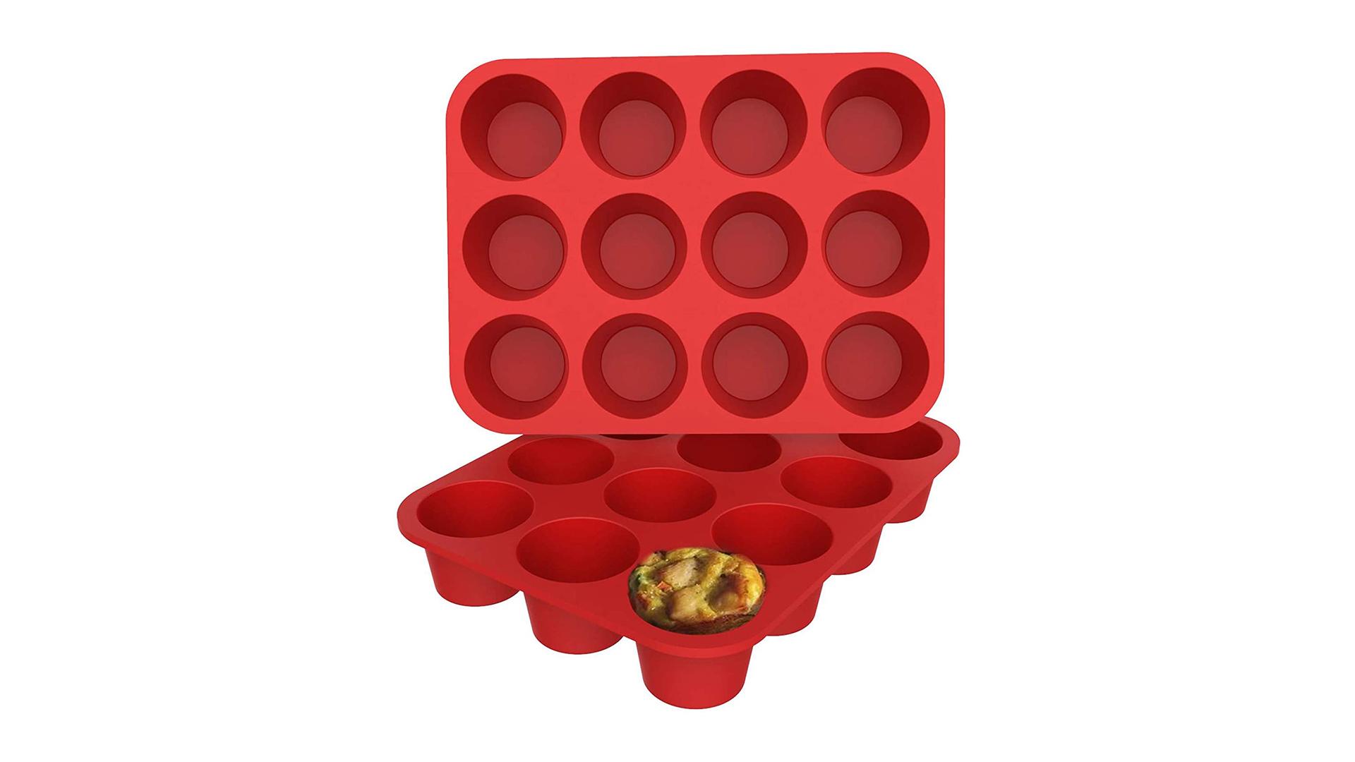 12 tasse de moules de moules de moules en silicone de silicone antiadhésifs de cupcake de cuisson à pâtisserie DH-Silicone