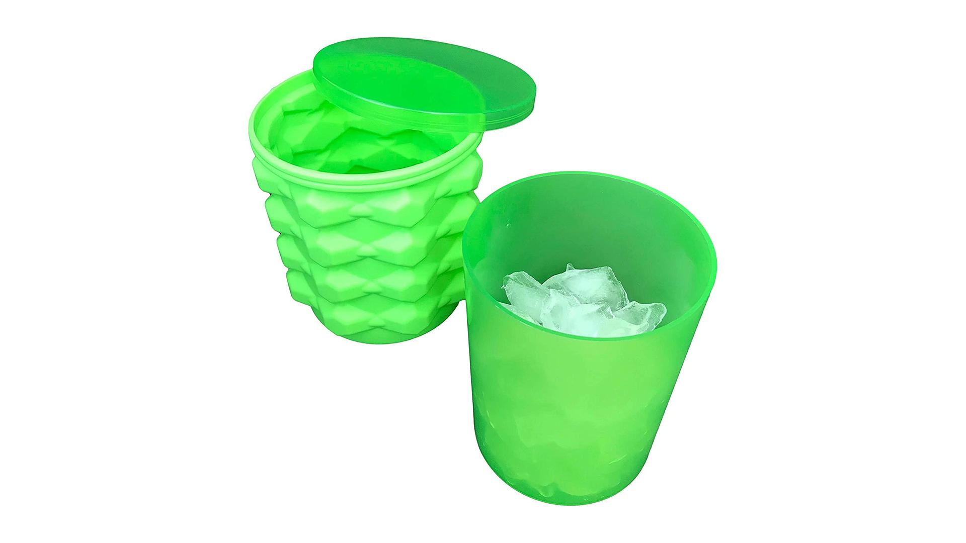 Lave-vaisselle-Coffre-fort Succursale de glace Mini glaçon Cube Maker Storage Plateau de glaçons avec couvercles DH-Silicone