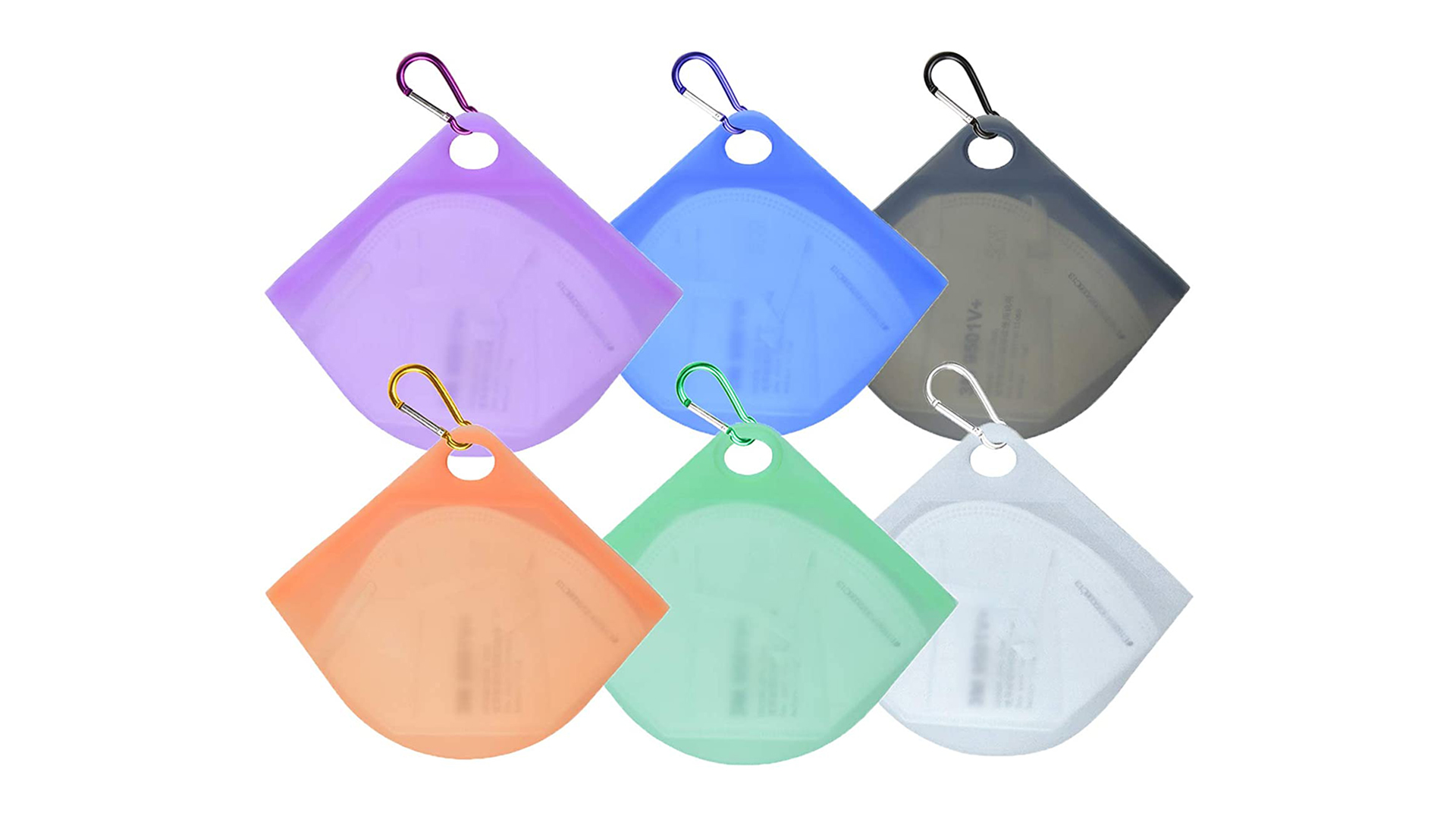 경량 운반 실리콘 페이스 마스크 저장 케이스 세탁 가능한 다용도 저장 용기 DH - 실리콘