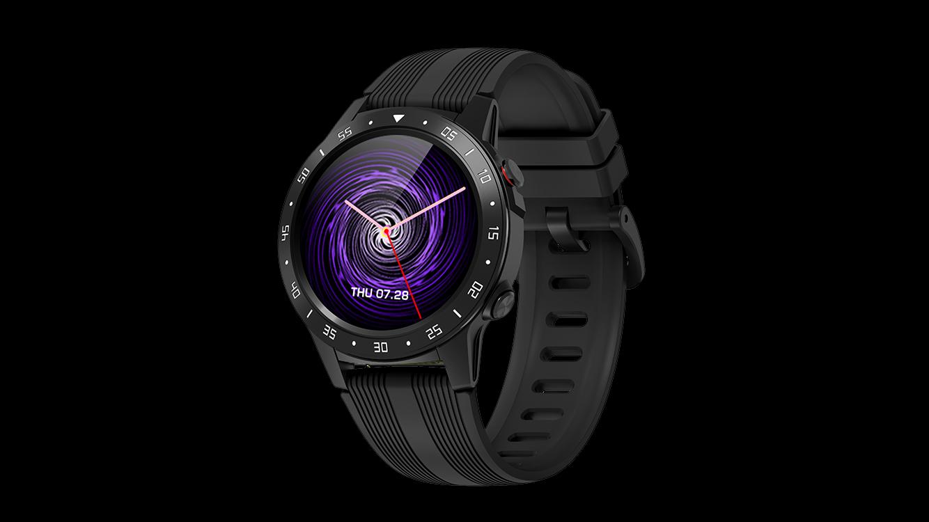 Smartwatch hartslag Bloeddruk SIM-kaart telefoongesprek touch volledig scherm Ronde Smart Watch GPS M5S