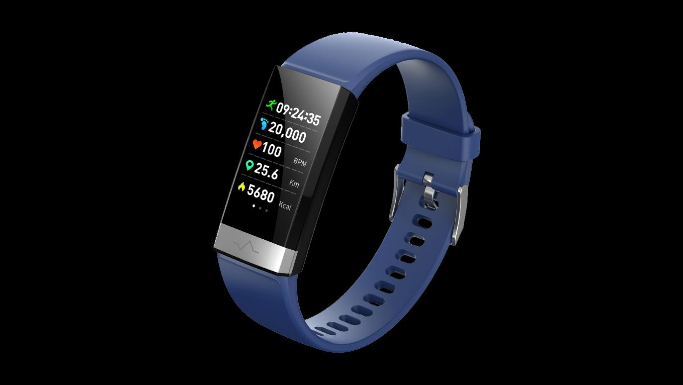 EKG PPG-Herzfrequenz-Monitor Smart Armband Blutdruck-Monitor Smart Watch Spo2 Fitness Tracker V19