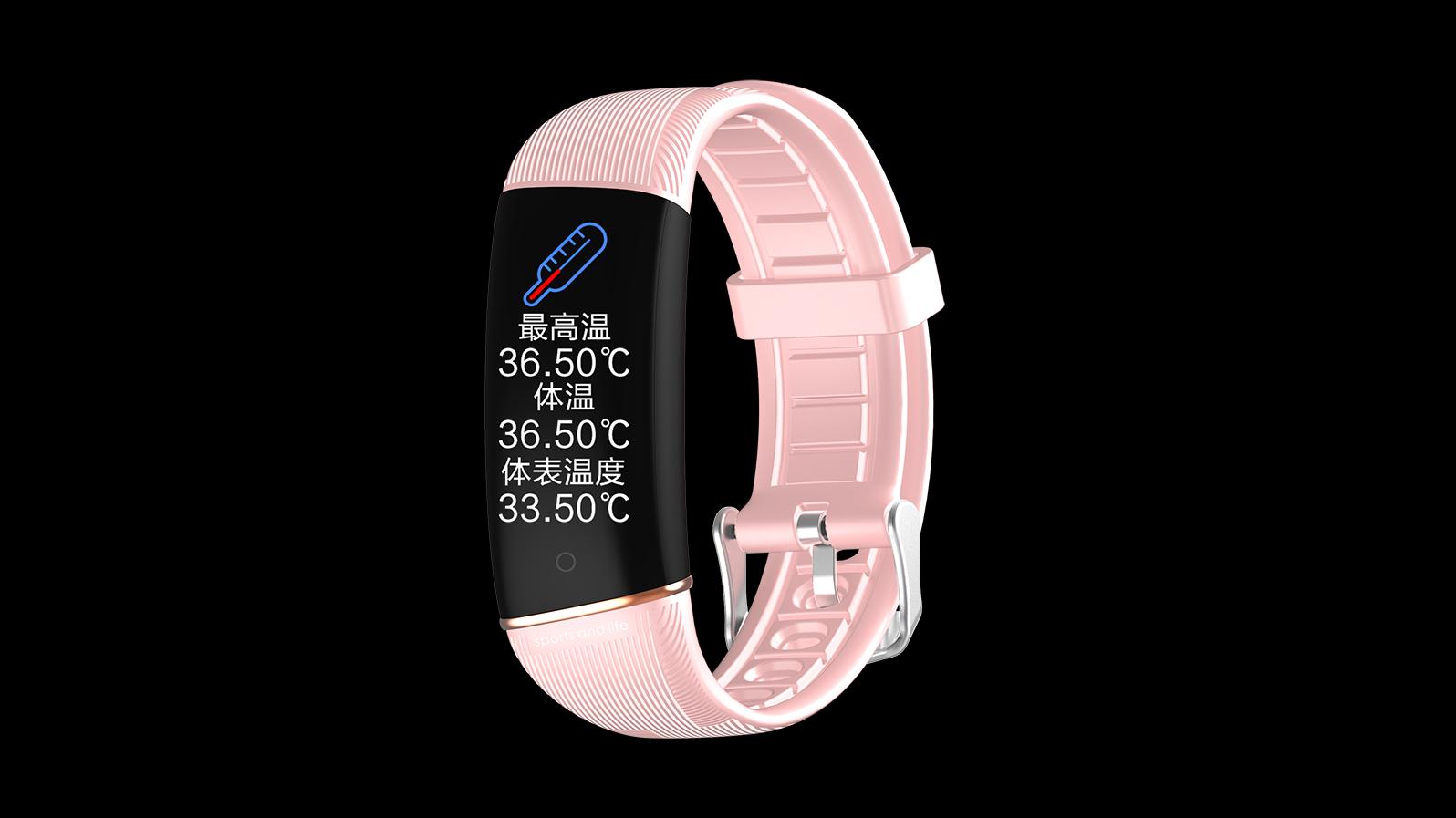 Lichaamstemperatuur Smart Watch Armband Kleurscherm Polsband E98S