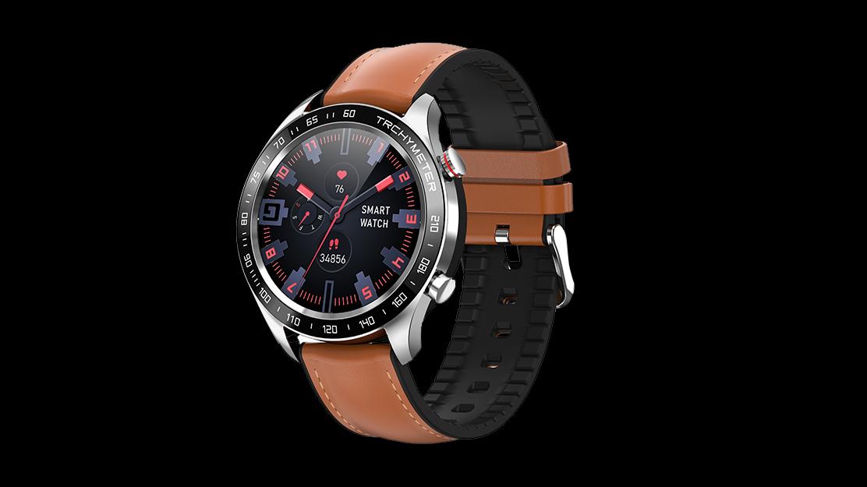 Vrouwelijke Periode Herinnering Ronde Full Touch BT Muziek Control Smart Watch IP68 Waterdichte Watch R5