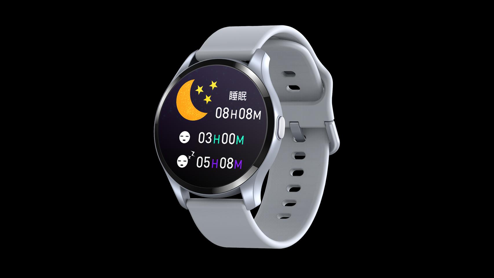 最新体温温度計のパルスラウンドタッチスクリーンスマートウォッチSmart Watch T88