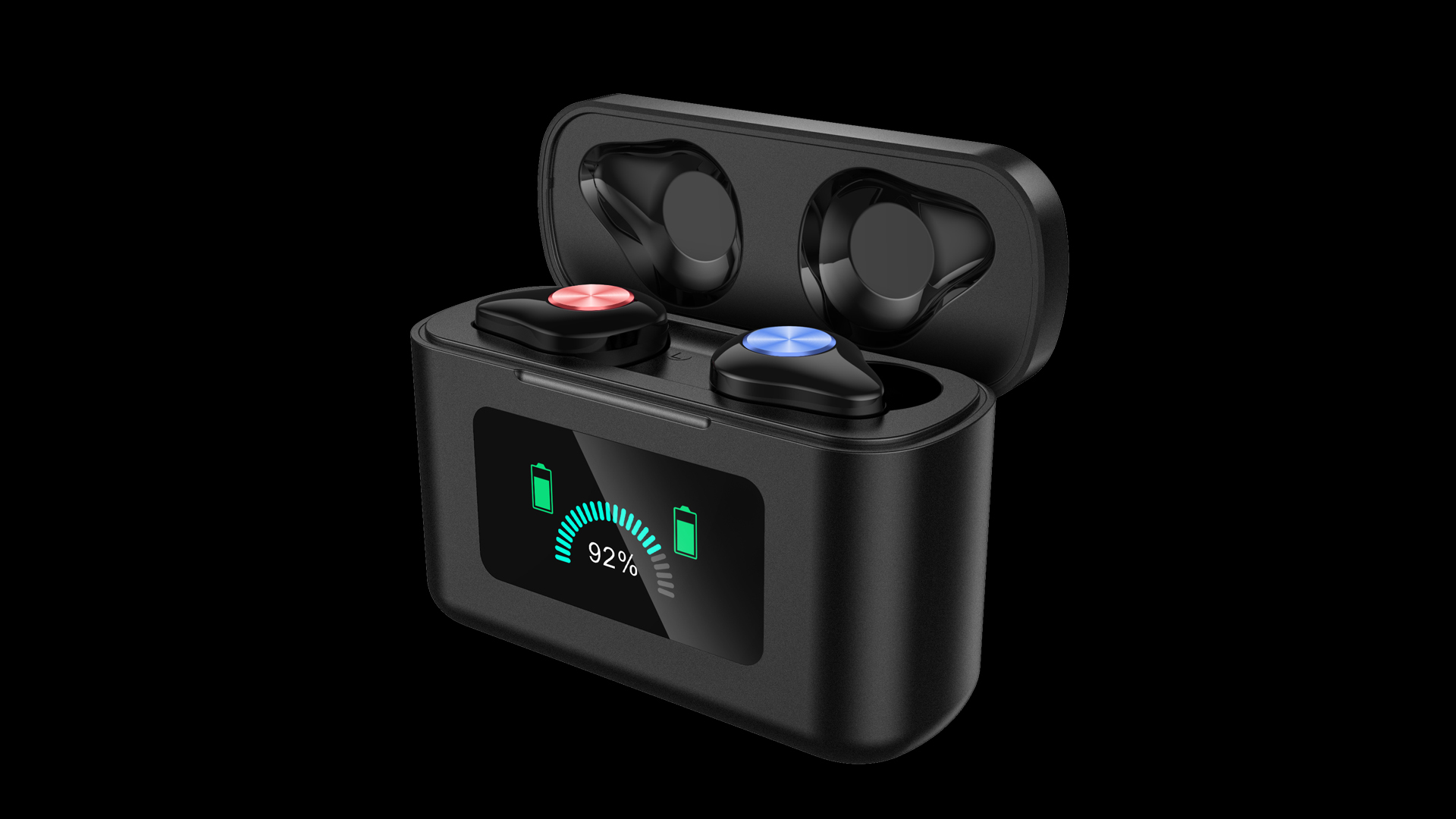 2021 New TWS Bluetooth 5.0 Headset LED Digital Display Wireless Dynamic Color Screen Game in-ear Headset