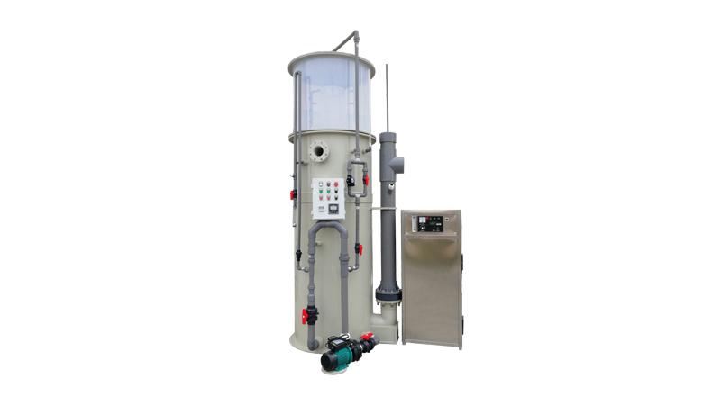 Sistema de desinfección de ozono Deco para el tratamiento de agua en cultivo de peces