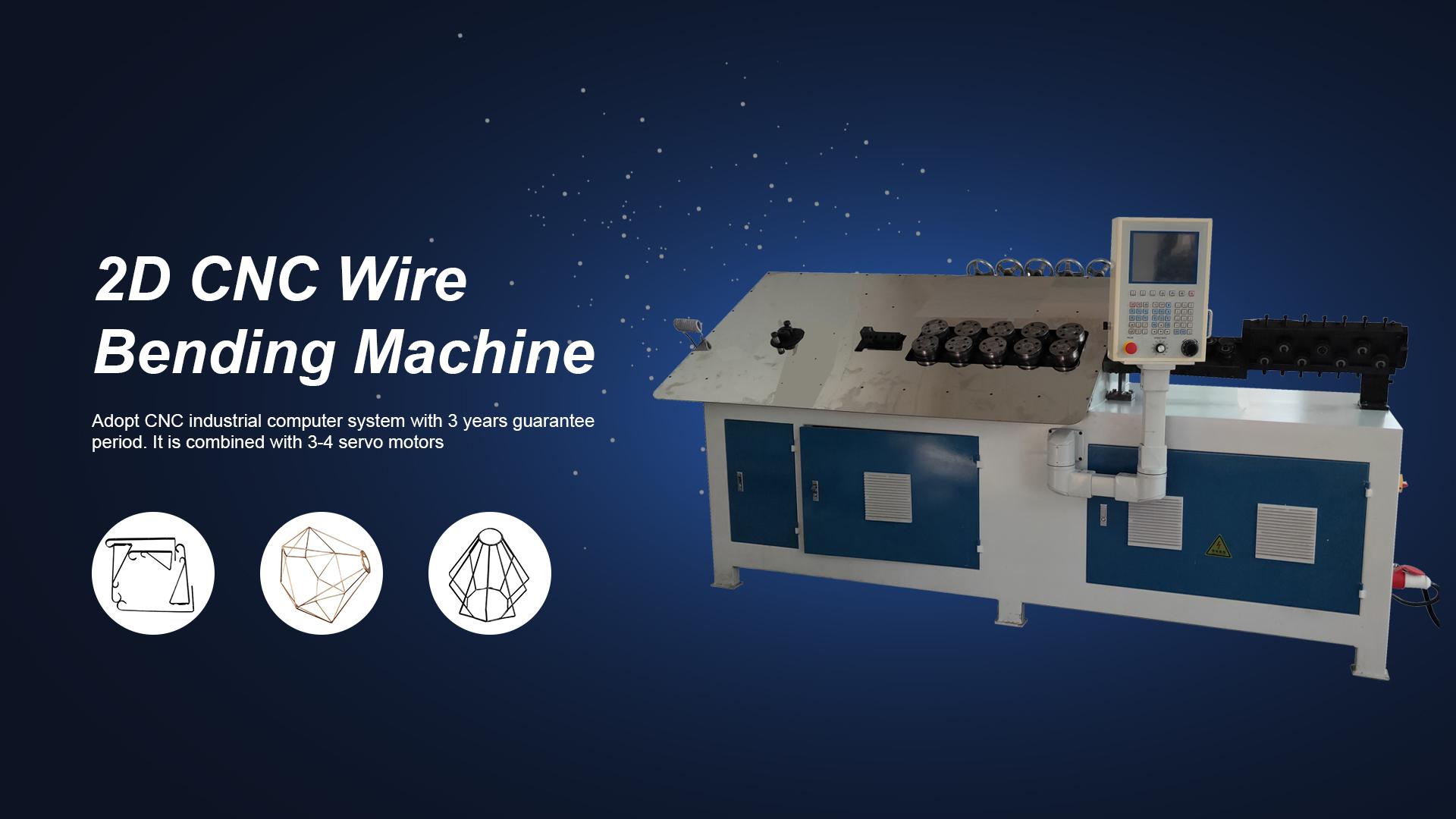 Macchina per piegatura del filo 2D CNC