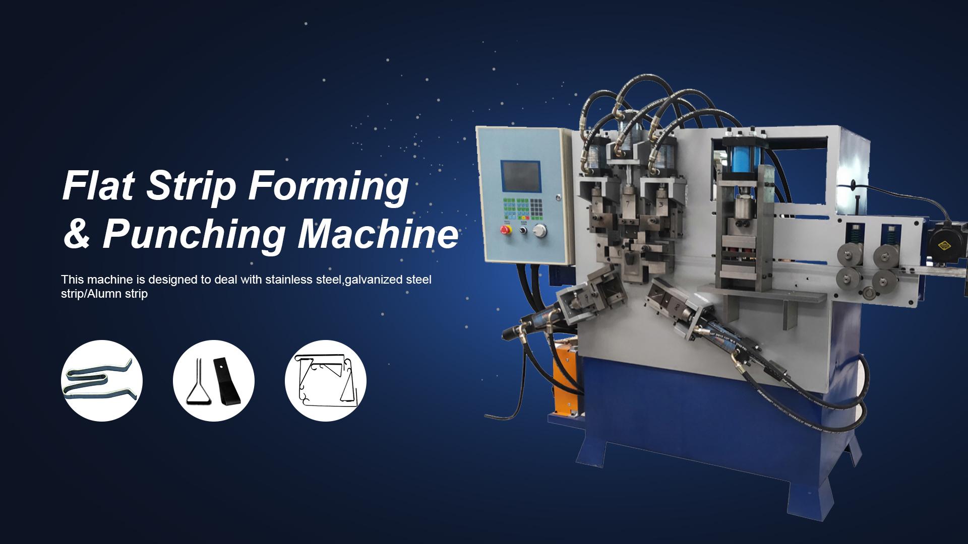 Flat Strip Forming & Punching Machine