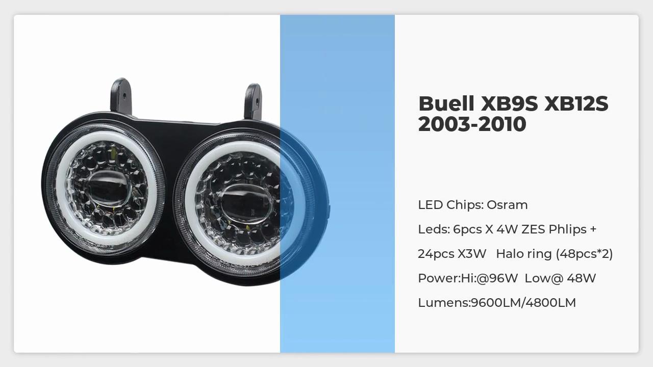 Buell XB9S XB12S LED المصباح