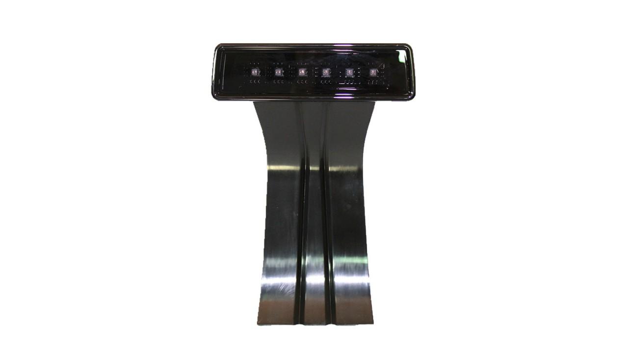 LED Third Brake Tail Lights High Mount Stop Lights for 07-17 Jeep Wrangler JK Black