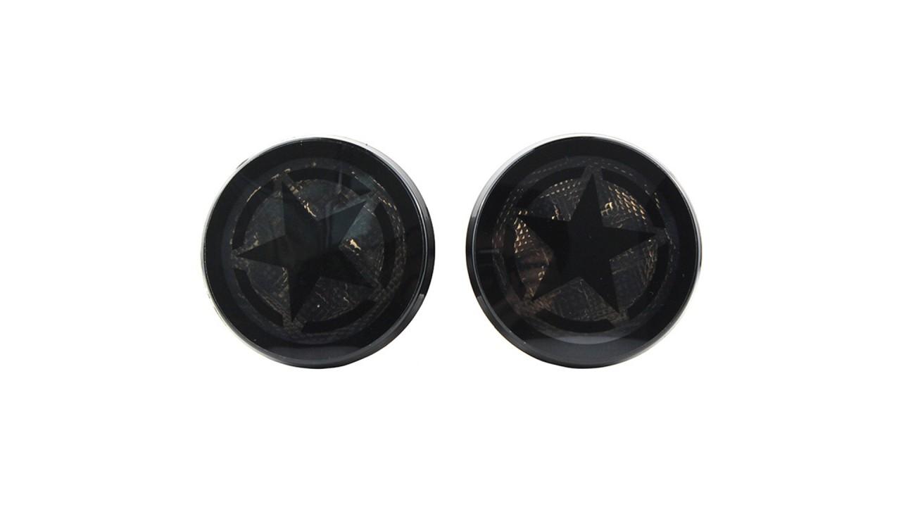 2x خمس نجوم الدخان عدسة العنبر الصمام بدوره إشارة الضوء المستخدمة ل jeep wrangler jk 07-17
