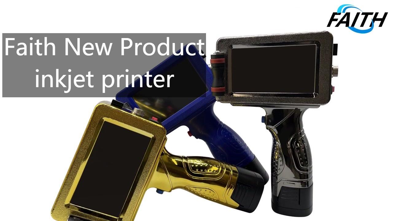 Вера 2021 Новый продукт Портативная реактивная печатная машина 22 Языки Истечения срока годности Метка Мобильный портативный термический струйный принтер
