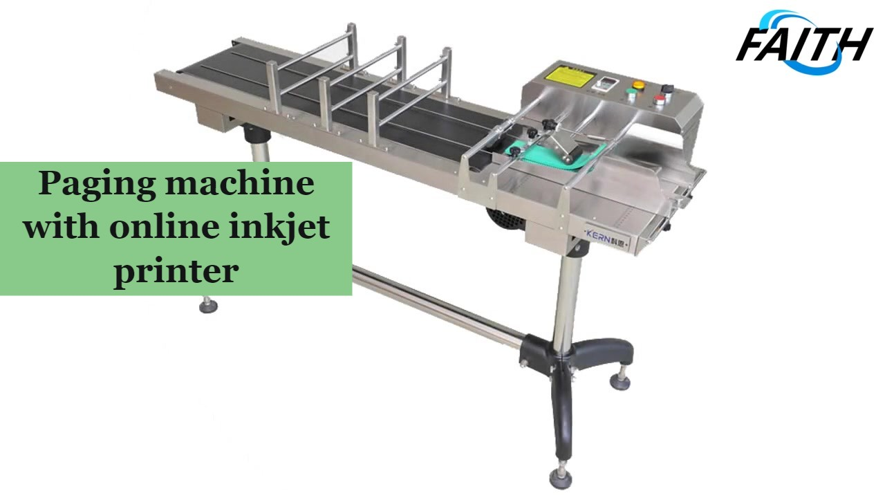 Faith manufacturer of Paging machine with online inkjet printer in china best price