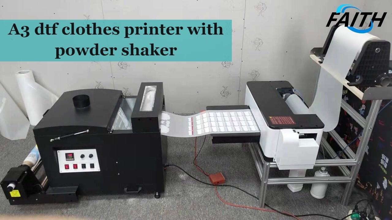 DTF-Choth-Drucker mit Pulver Shaker Bester Qualität Hersteller-Glauben