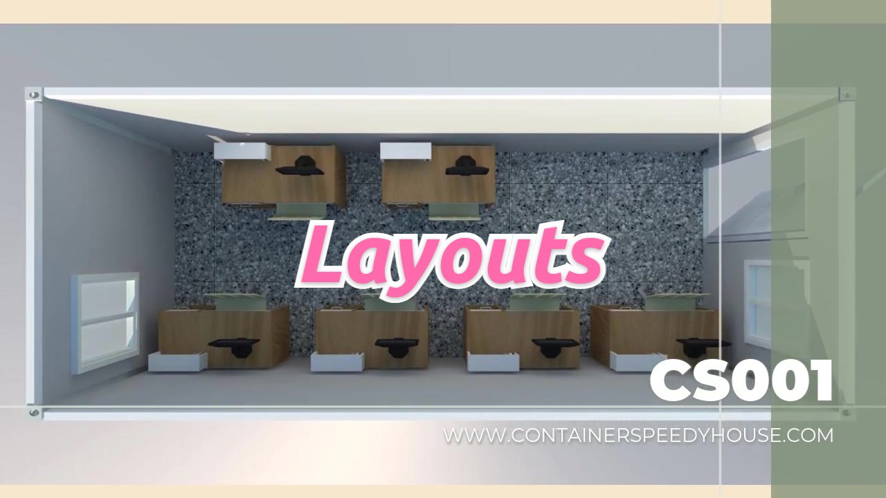 Professional Introto Layouts for Flat Pack Container on CS Modular House