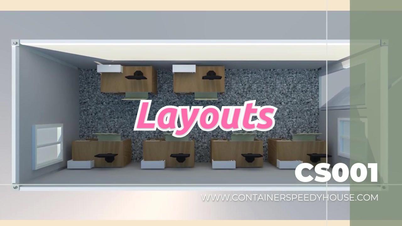 Diseños de introto profesional para envase de paquete plano en CS Modular House