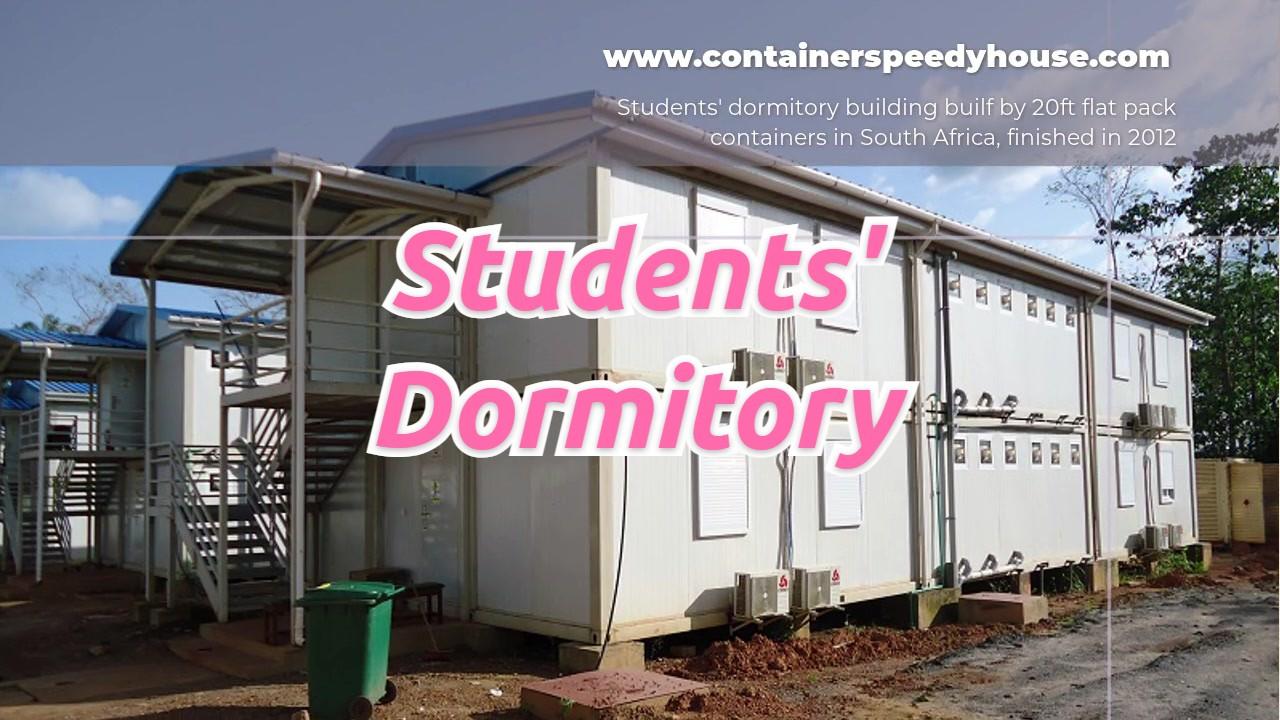 Dortoir des étudiants en Afrique du Sud