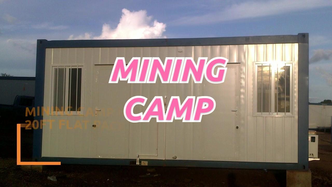 Camp minant au Congo