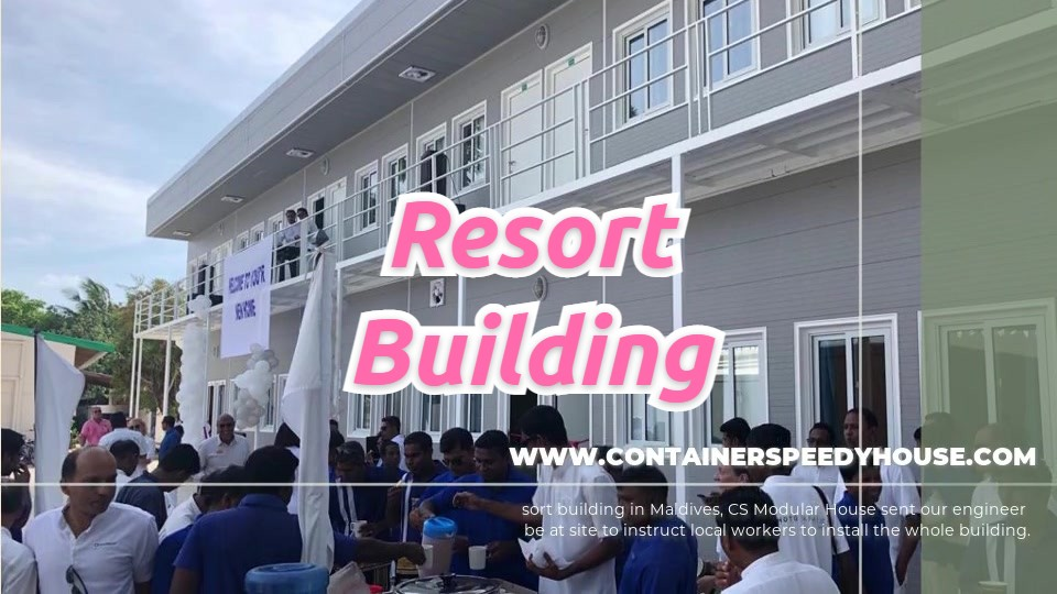 Best Flat Pack Containers Resort Building in Maldives