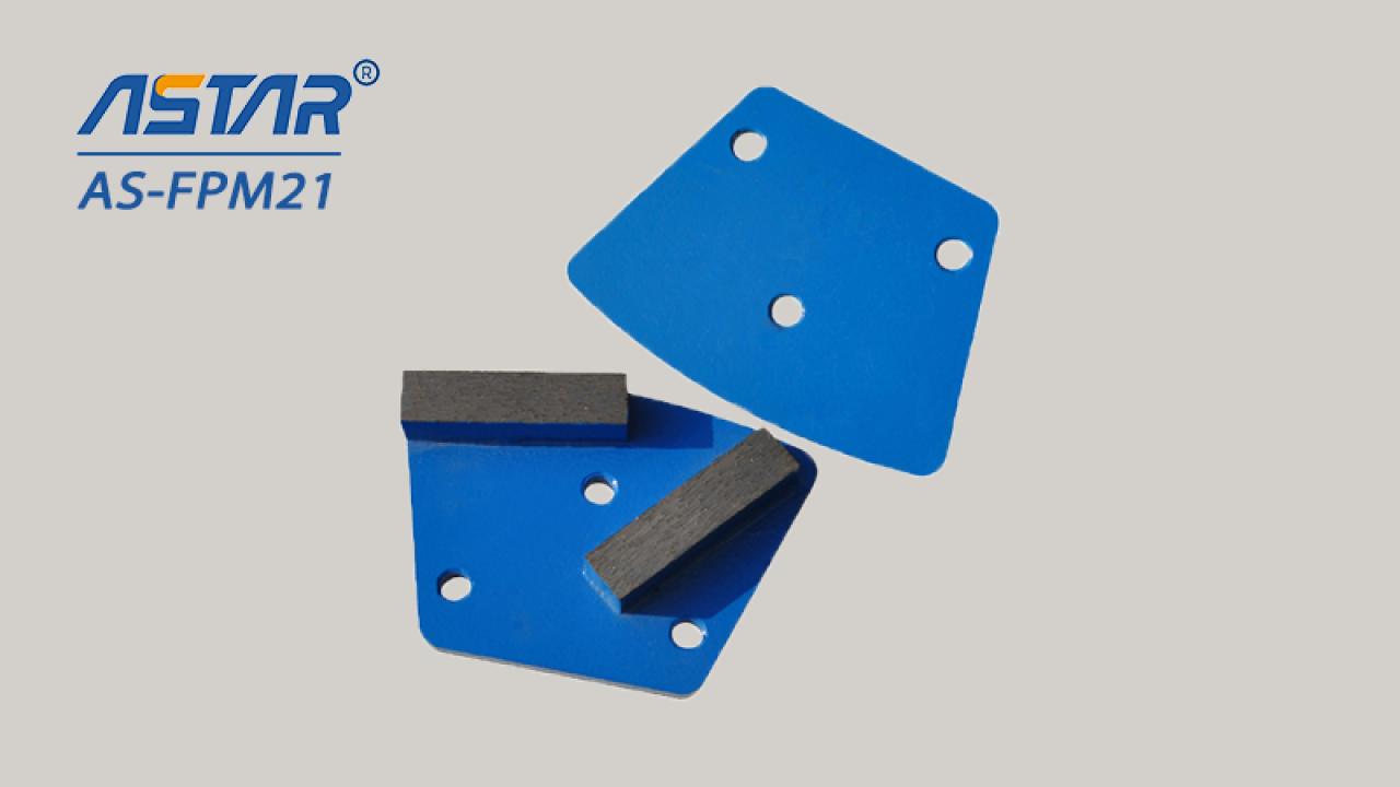 Elmas zemin parlatma pedleri / lavina makinesinde beton taşlama için metal segmentli disk