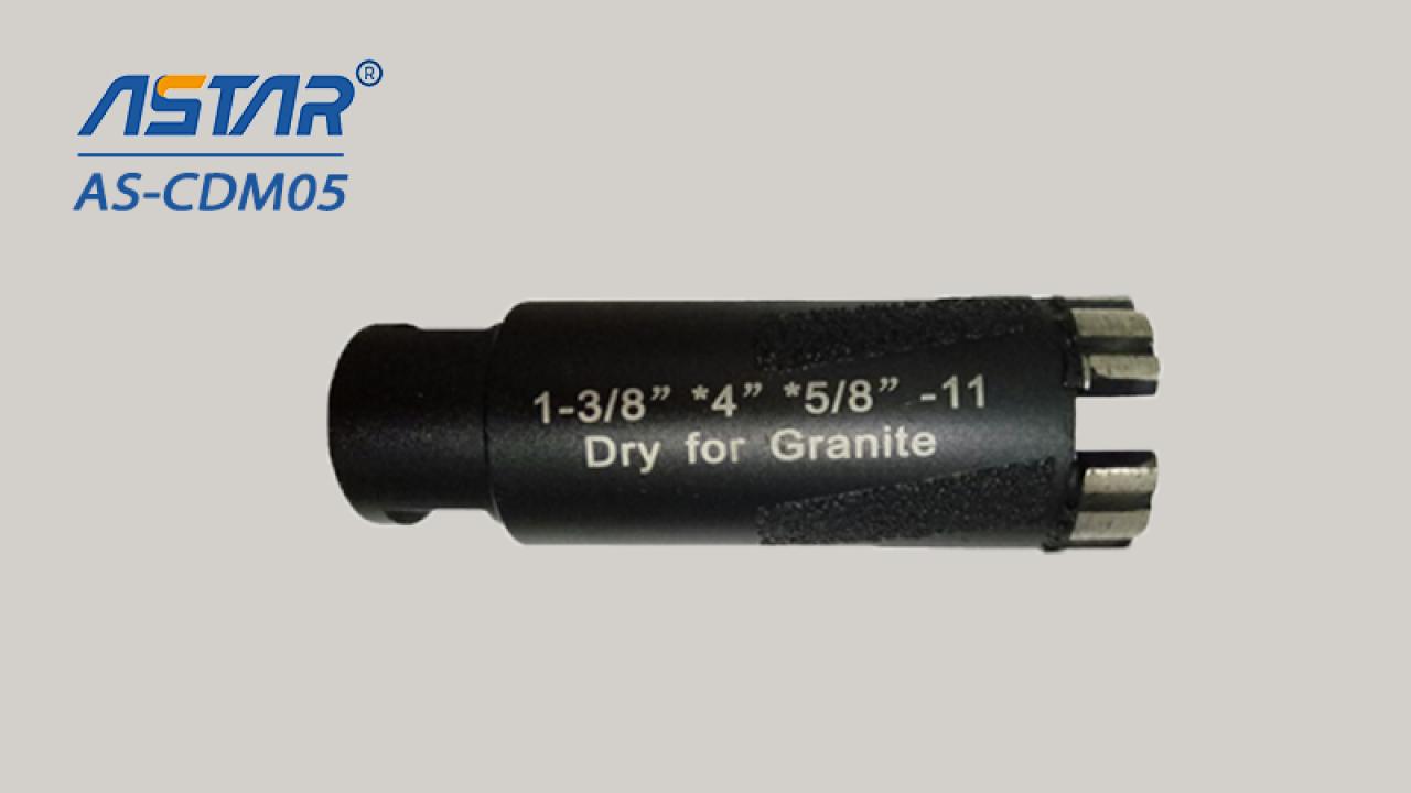 Mũi khoan lõi kim cương cho đá granit khoan khô với đường kính từ đường kính 6 mm đến 100mm