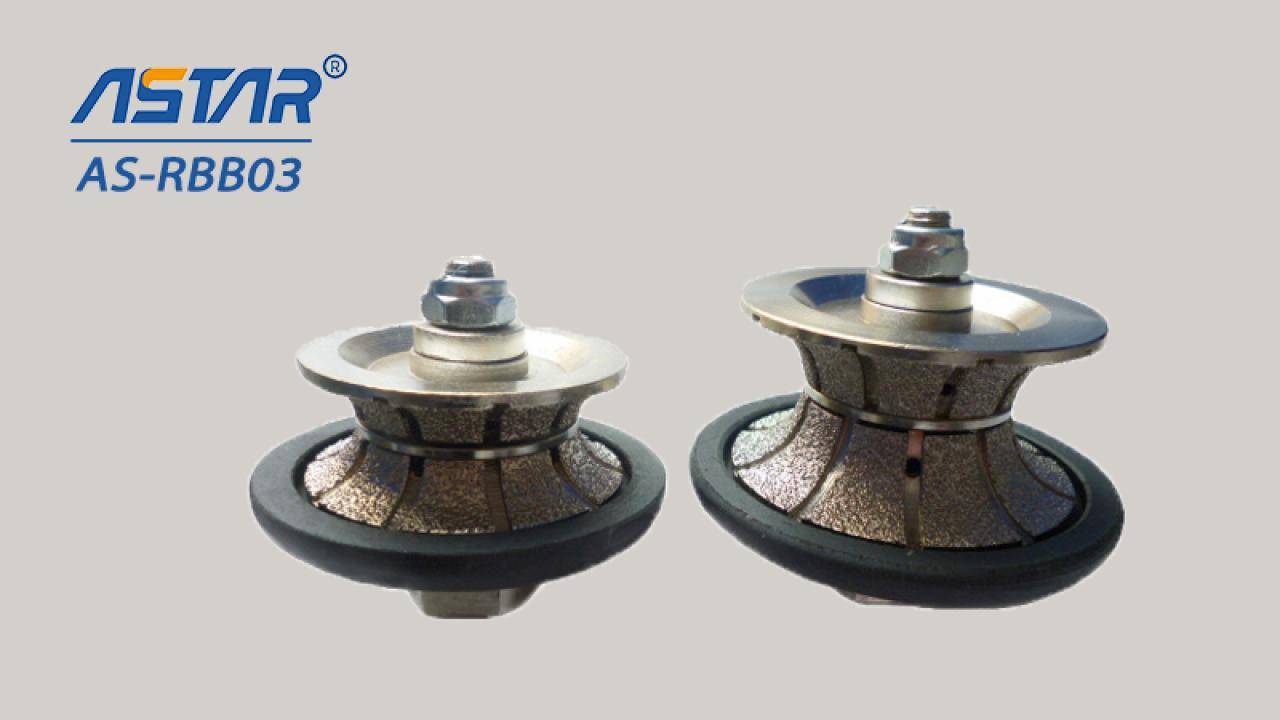 Buntos de roteador de diamante brasado com V tipo para tops de cozinha de perfil, bancadas diferentes forma
