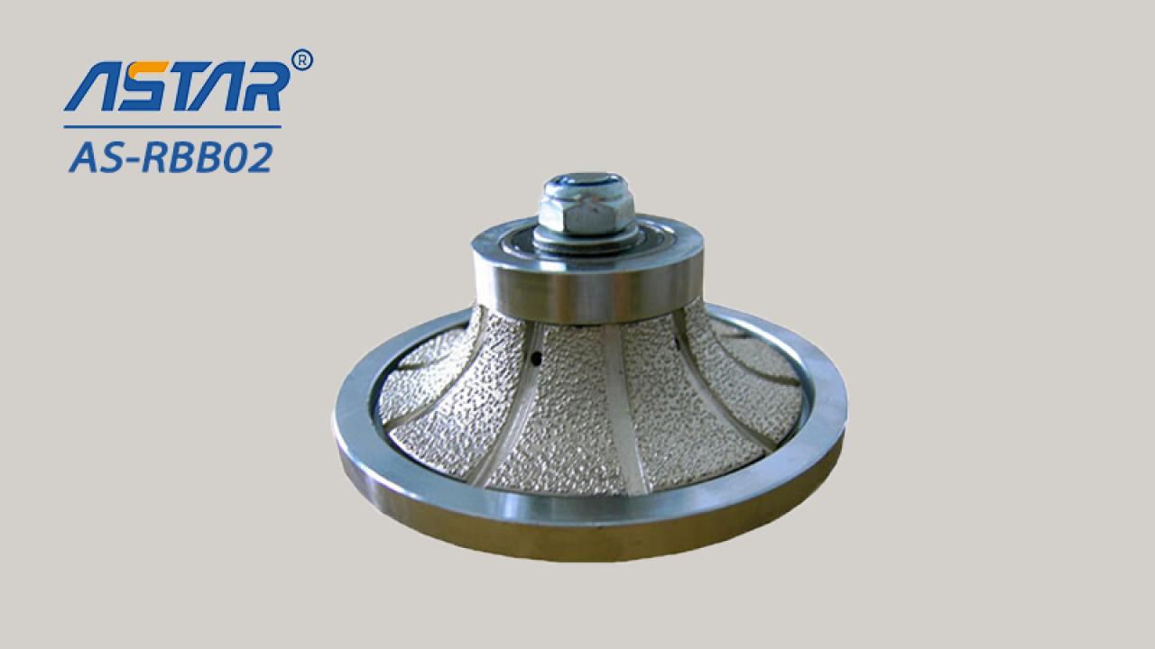 Bocados de roteador de diamante brasado com b tipo para perfurar tops de cozinha, contador de tops forma diferente
