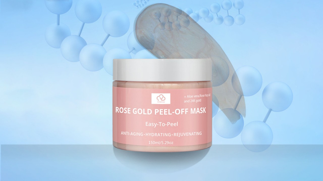 Minboss Rose Gold Peel-Off Mask Etiqueta Privada Cuidado de la piel Rosa Oro Colágeno Spa Pelada Off Face Hydro Jelly Mask Powder Caucho Máscara facial