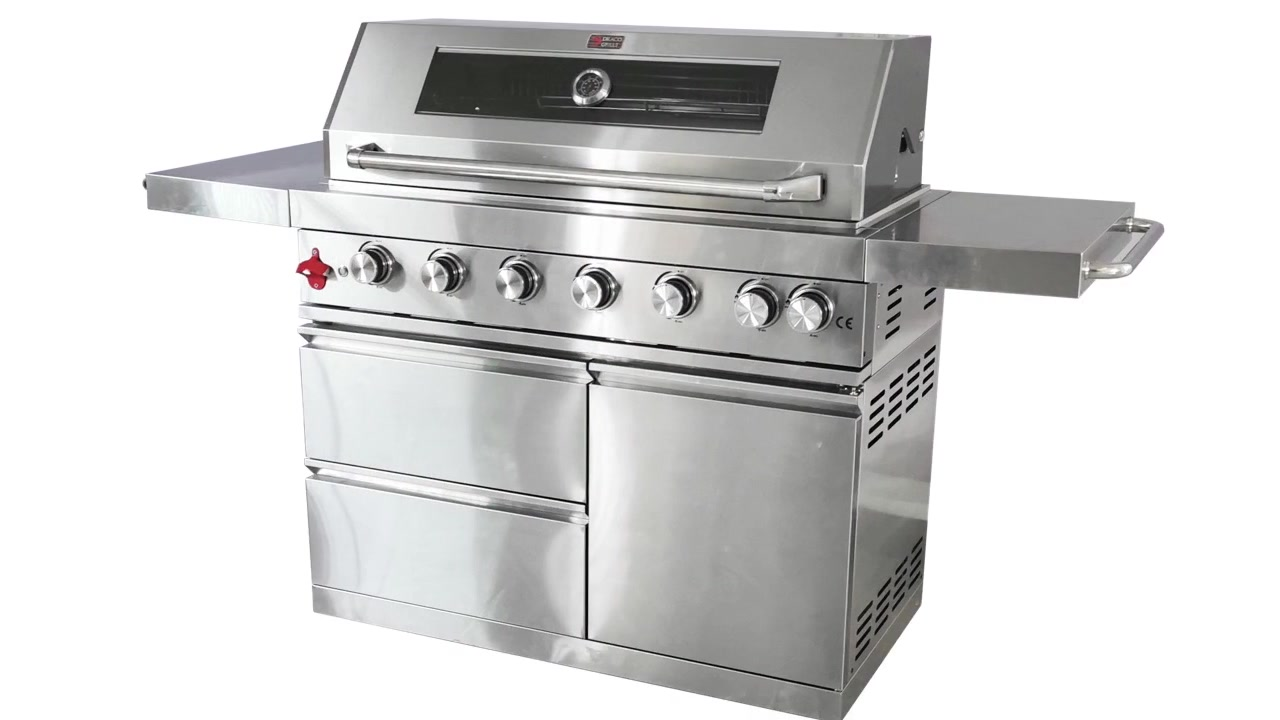 WST-001 ошхона дар беруни ошхонаи берунӣ Steaker Stand Temp Temi Patio BBQ BBQ газ