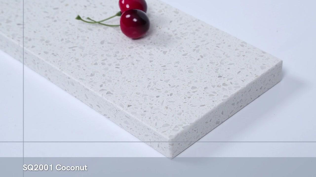 Pedra de quartzo de cristal branco China SQ2001 com melhor preço