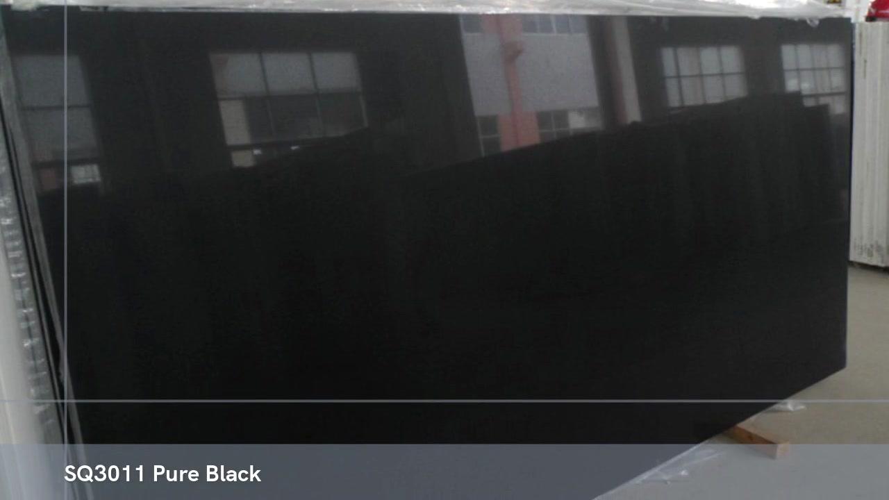 STRONG QUARTZ Pedra de quartzo produzida em preto puro na China