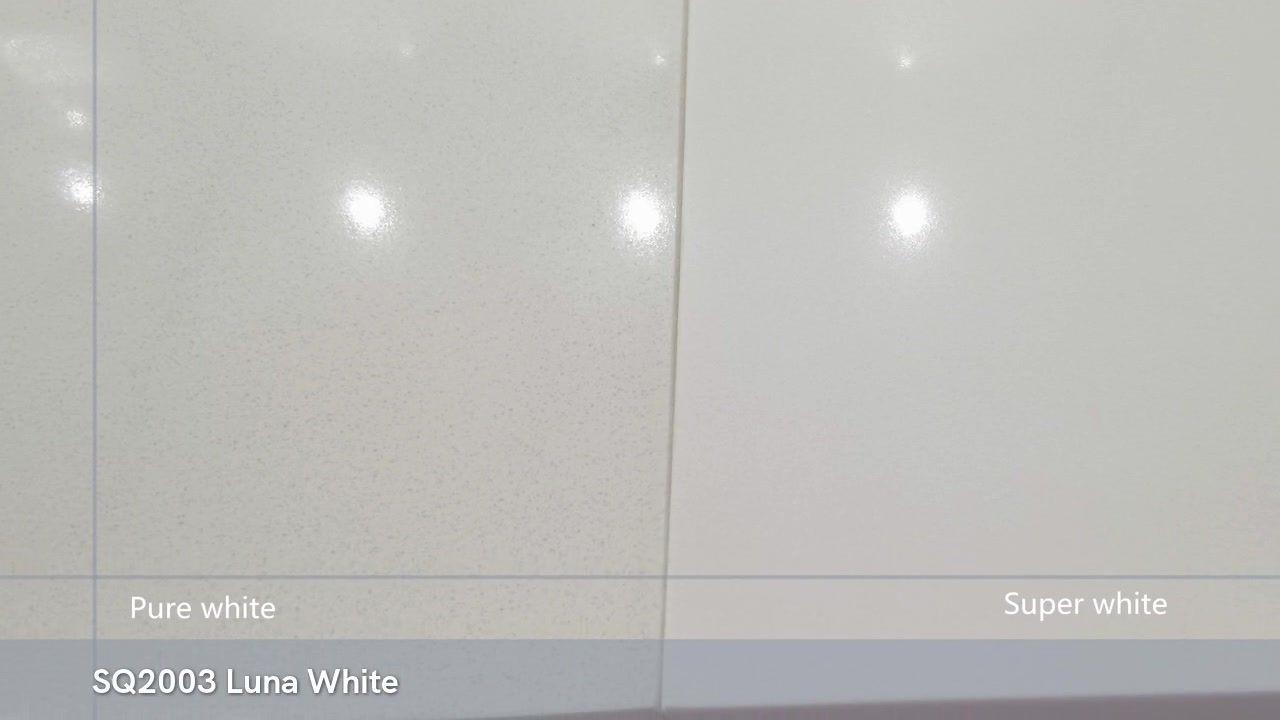 Полированный фарфор 3200X1600 Pure White Super white Quartz Kitchen Countertop