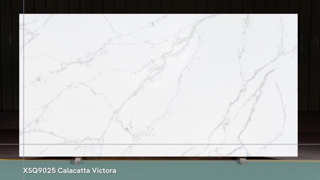 2020 Новый дизайн Calacatta white от Foshan Strong Quartz