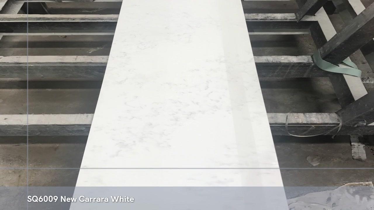 كوارتز قوي أفضل حجر كوارتز أبيض كارارا للأرضيات